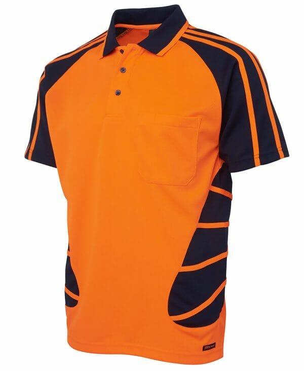 Spider Short Sleeve Polo Orange
