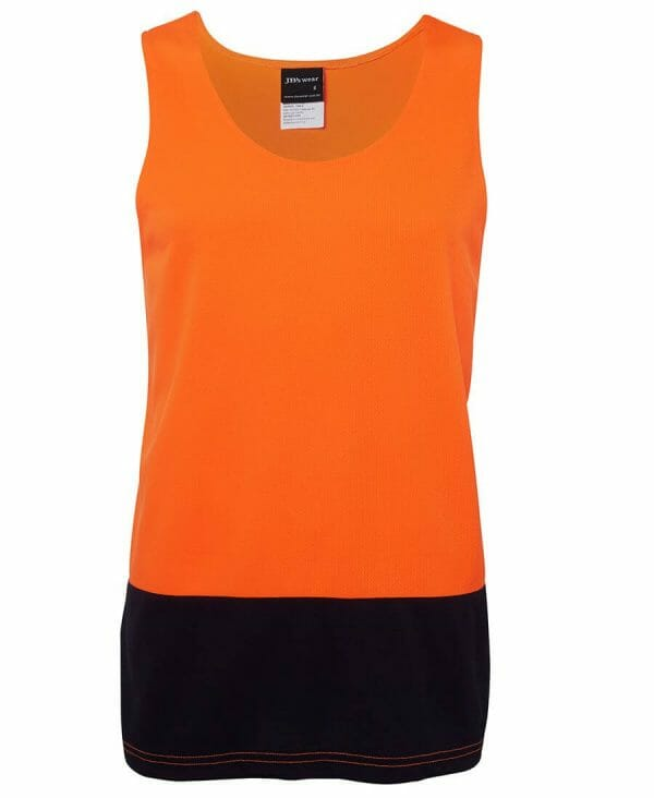 6HTS HiVis Two Tone Traditional Singlet
