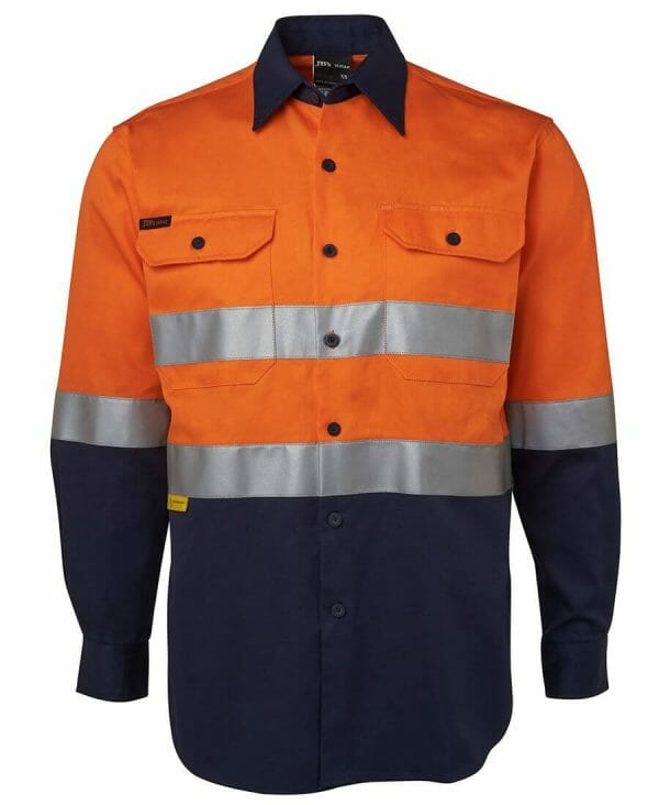 long Sleeve Cotton Drill Shirt with tape