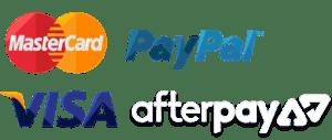 we accept mastercard, paypal, visa and afterpay