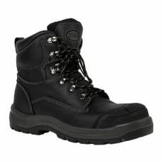 Side zip safety boots