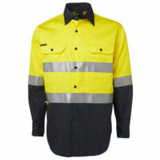6HLS Hivis Long Sleeve Cotton Drill Shirt