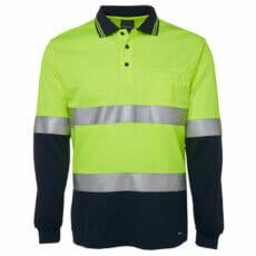 6HVSL HiVis Long Sleeve Polo Shirt