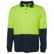 6HVPL HiVis Long Sleeve Polo Shirt