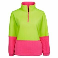 Ladies HiVis 1/2 Zip Polar Fleece Jumper
