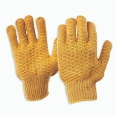 PVC Lattice CrissCross Latex Palm Glove
