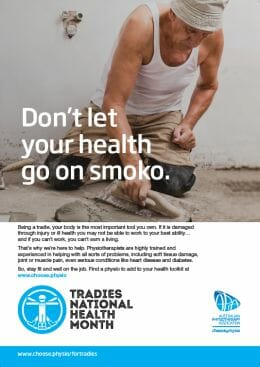 Tradies national health Month poster