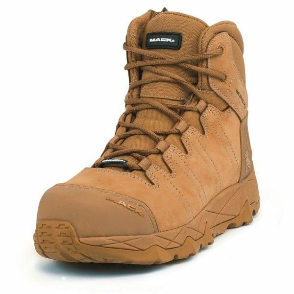 Mack Octane-Zip Safety Boots -Honey.Oblique