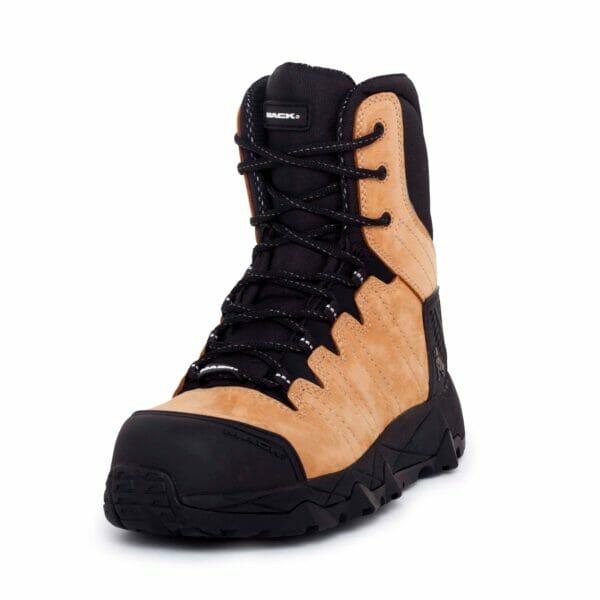 Mack TerraProZip Safety Boots -Honey.Oblique
