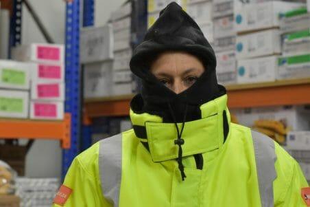 freezer jacket high collar