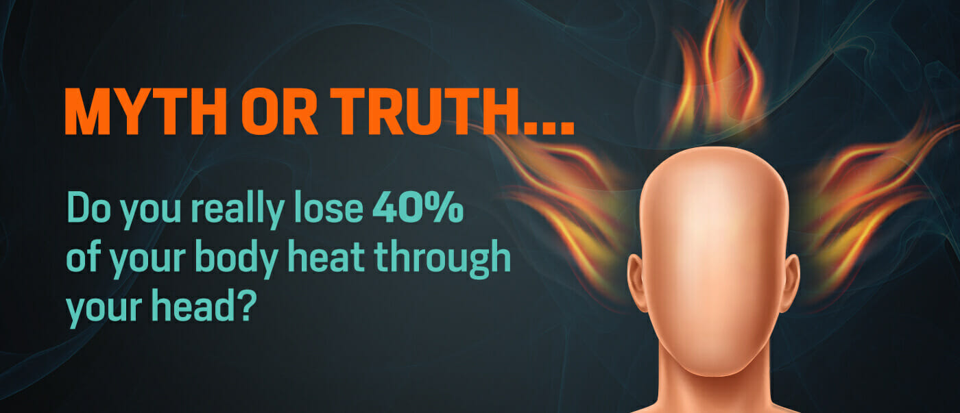 Myth or truth…do you really lose 40% of your body heat through your head?