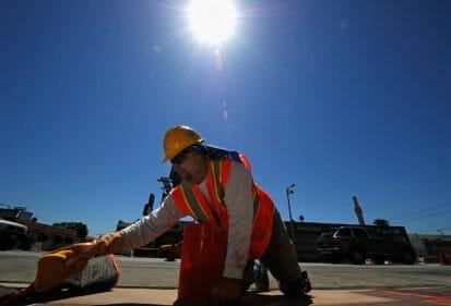 risk of Heat stroke when working in the sun